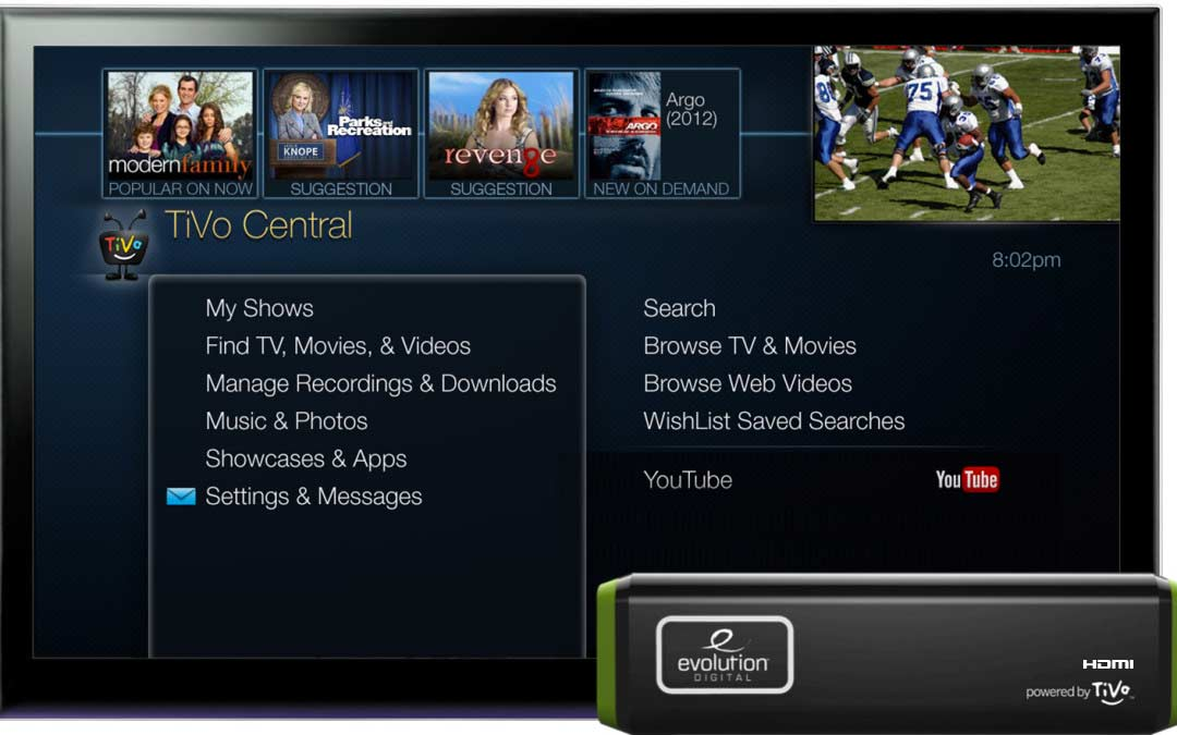 Evolution Digital Announces Partnership with NCTC to Make Available to Members IP Hybrid Set-Top Box Powered by TiVo